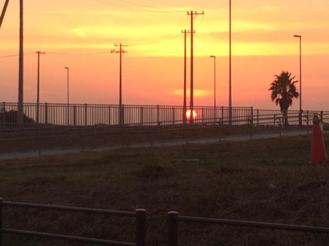 綺麗な夕日^^