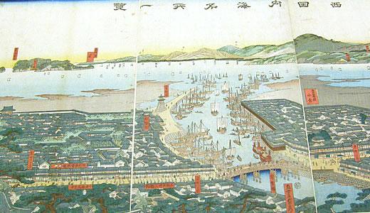 古地図企画展・海と陸の「みち」江戸時代を旅する@神戸市立博物館-4