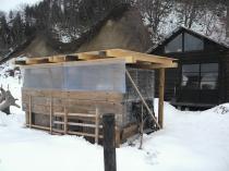 冬の鶏小屋