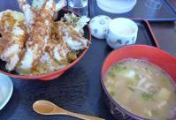人気ランチ 天丼セット 豚汁も茶碗蒸し¥1000!!