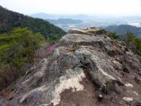 権現道コース 岩場の稜線
