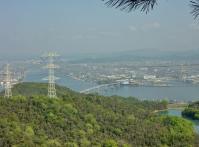 旭川と岡山港と大橋