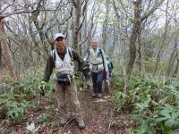 登山 キャリアの先輩との歩き いろいろ教えて貰ってます。。