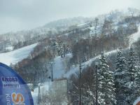 スキーセンターからコースを眺める