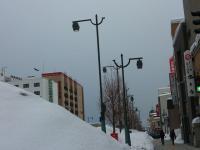 キロロ市街地も大雪