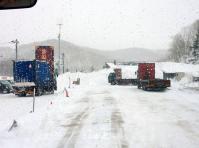 中山峠を過ぎて小雪に変る