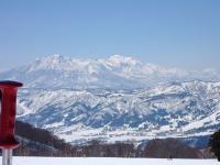 パノラマ ゲレンデ正面に妙高高原を眺める。