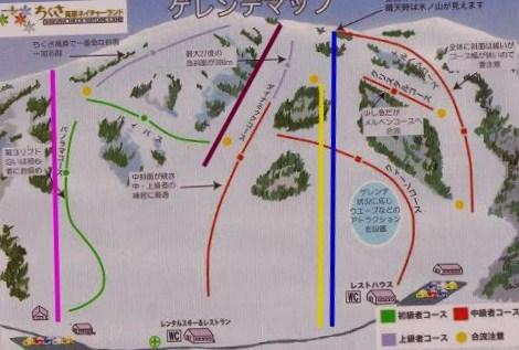ちぐさ高原スキー場 マップ