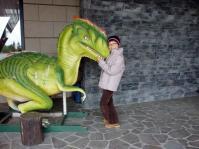 ホテル ハーヴェストへたくさんの恐竜が来ていました。