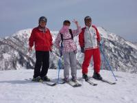 イリュージョン1392mでパウダーゾーン最上部 1320mからのスキー