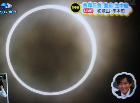 ①金環日食