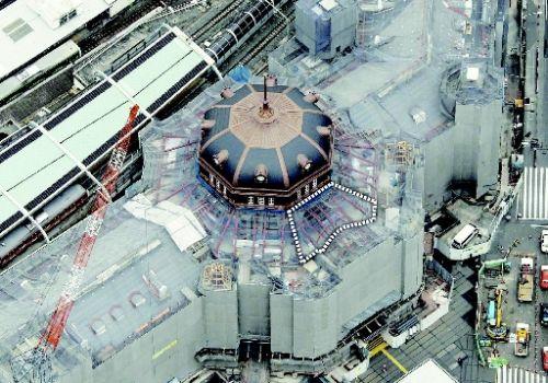 東京駅のスレートの屋根(宮城県)