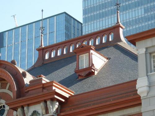 東京駅のスレートの屋根2012