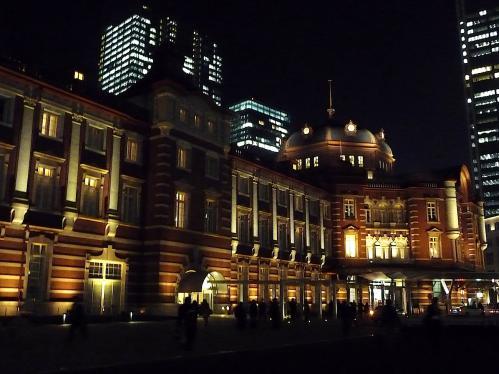 夜の東京駅2012-08