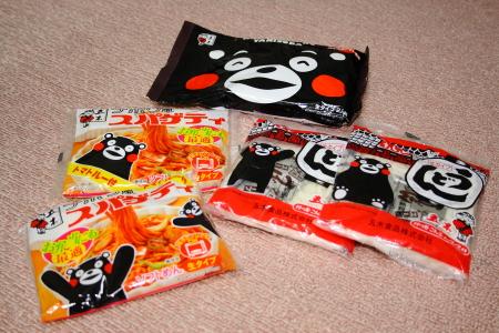 くまモン麺シリーズ3種類