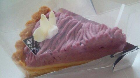 紫芋チーズタルト