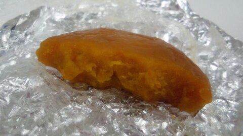かぼちゃ餅断面