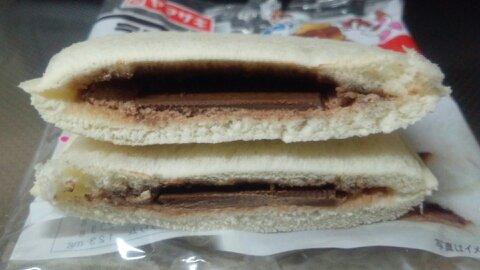 ランチパック3種のチョコ断面