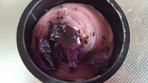 紫いもパフェアイス②