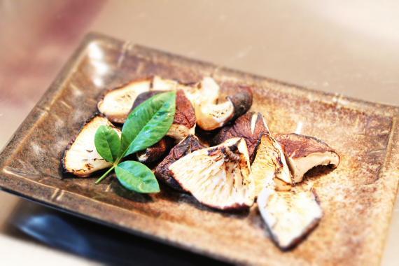 原木椎茸 焼き