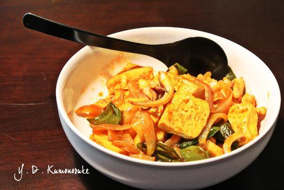 イカや豆腐や野菜コチュジャン