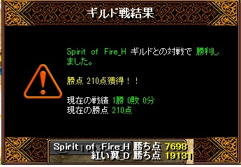 翼Gv 3月14日 VS Spirit of Fire_H様