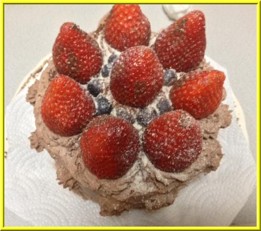バレンタインケーキ2