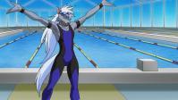 水泳勝負だ!