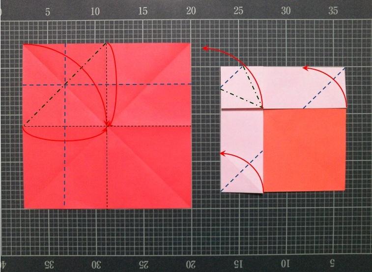 花 折り紙 折り紙 恐竜 簡単 : divulgando.net