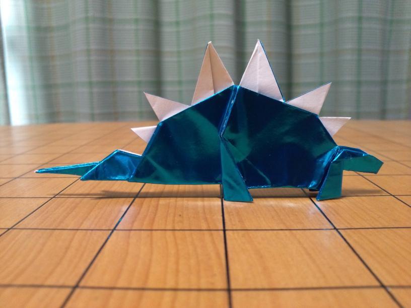 すべての折り紙 簡単恐竜折り紙 : ... Stegosaurus Ver. 1.3 - 恐竜の折り紙