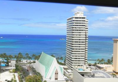 2012.07.01 窓からのワイキキビーチ