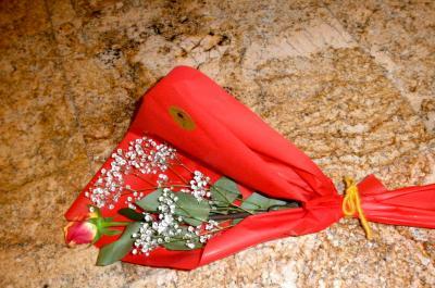 2012.10.03 フィレンツェ空港で花束