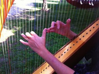 2012.10.14 ハープ奏者の手