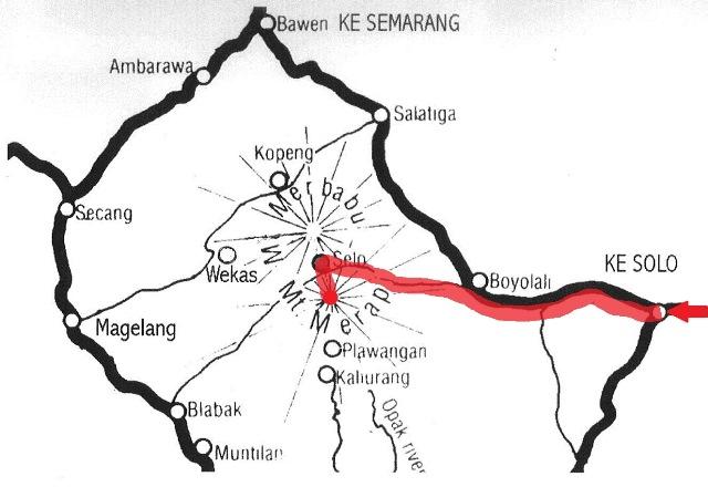 Gunung Merapi 地図