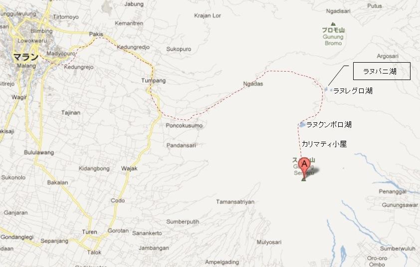 Semeru 地図