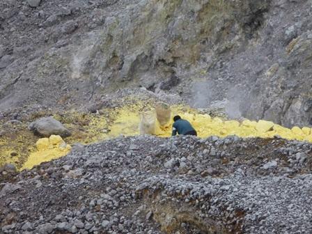 29硫黄の採掘