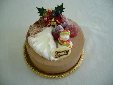 チョコといちごのクリスマスケーキ