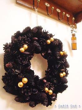 BLACK☆XmasWreath・・・