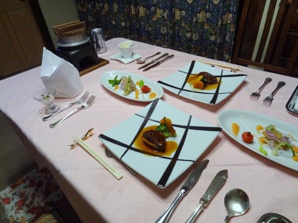 ①夕食 (2)