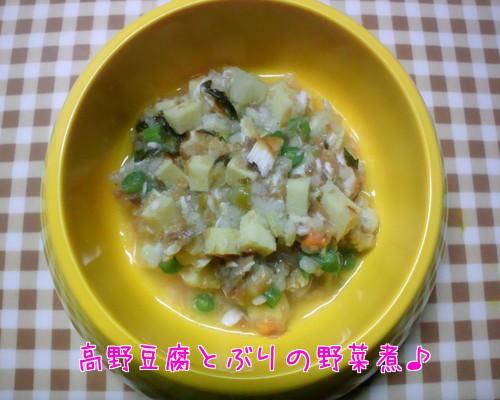 高野豆腐とぶりの野菜煮