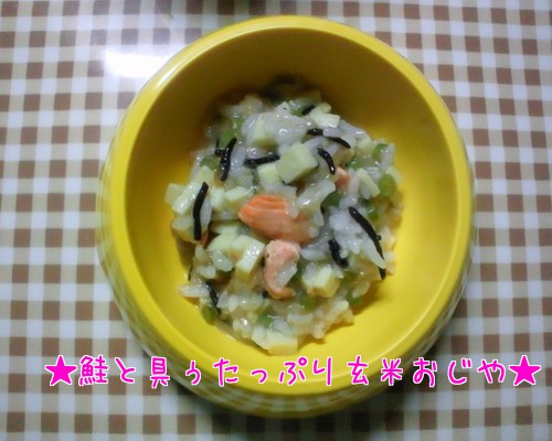 鮭と具ぅたっぷり玄米おじや