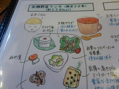 20130218有機野菜ランチメニュー