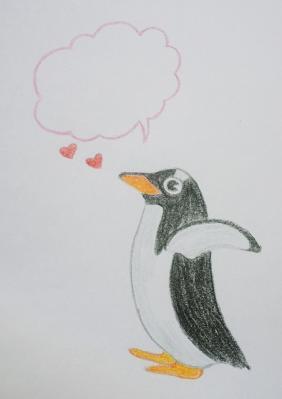 ハガキペンギン縮小