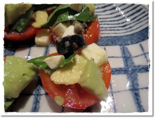 2012・7・29-5・トマト&モッツァレラとアボカドのバジル和え