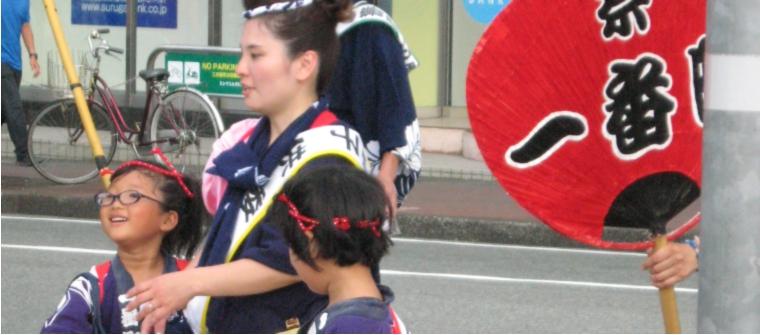 三島 夏祭り 子供たち