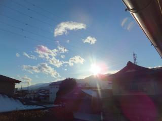 夕日がまぶしい・・