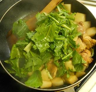 蕪と鶏肉のピリ辛チャーハン5