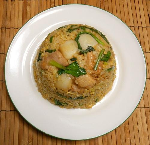 蕪と鶏肉のピリ辛チャーハン9