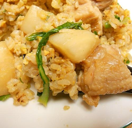 蕪と鶏肉のピリ辛チャーハン11
