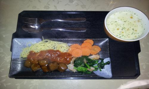スープ付き・パスタ・ミートソース